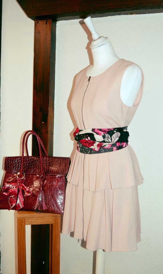 Robe rose poudrée