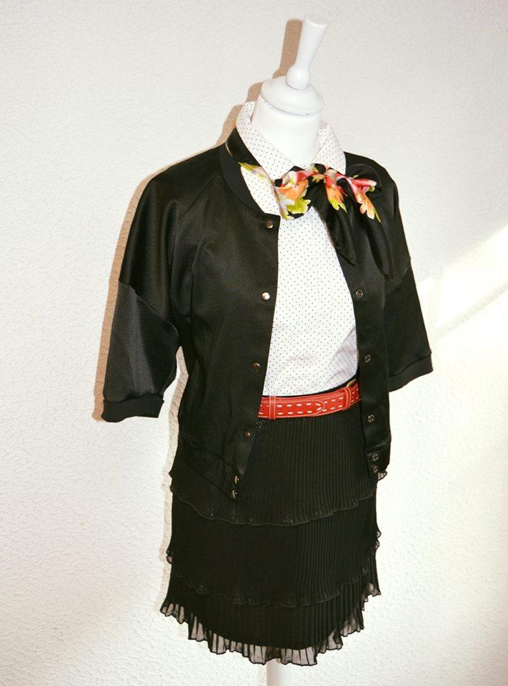 Ensemble jupe noir chic